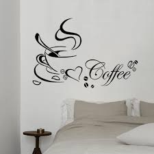 Kitchen Coffee Cup Letters Cute Wall Decals Living Room Decoration Mural Art Wall Stickers Home Decoration Diy Wallpaper Wish