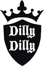 Amazon Com Dilly Dilly Beer Vinyl Decal Sticker For Window Car Truck Boat Laptop Iphone Wall Motorcycle Gaming Console Size 10 70 X 16 Reflective Black Automotive