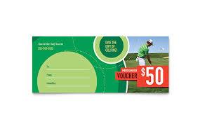 golf tournament gift certificate
