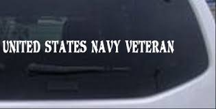 United States Navy Veteran Windshield Car Or Truck Window Laptop Decal Sticker Ebay