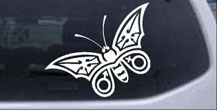 Tribal Butterfly Car Or Truck Window Decal Sticker Rad Dezigns