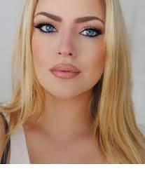 beautiful blonde hair and makeup for