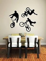 Wall Vinyl Decal Sticker Bmx Bike Jump Style Jumping Cyclist Extreme Sports Kids Boys Room Stickers Home Decor Art Bedroom Design Interior Decor Hds8384 Buy Online In Colombia Missing Category