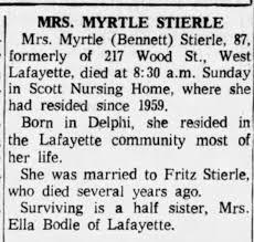 Myrtle Bennett Moore Stierle - Newspapers.com