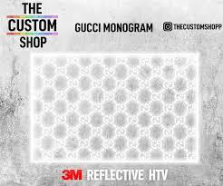 Gucci Monogram 3m Reflective Heat Activated Transfer Vinyl Decals Htv The Custom Shop