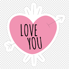White And Pink Love You Text With Heart Illustration Sticker Love Wall Decal Hike Love Stickers Text Heart Magenta Png Pngwing