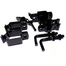 Medallion Fence Steel Gate Hardware Kit Black Gloss 5950 Rona