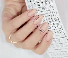 Numbers Letters Nail Art Stickers For Sale Ebay