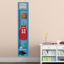 Personalized Basketball Locker Growth Chart Children Height Etsy