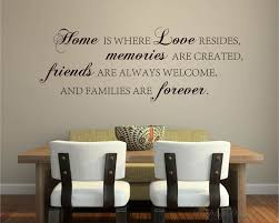 Home Is Quotes Wall Decal Family Vinyl Art Stickers