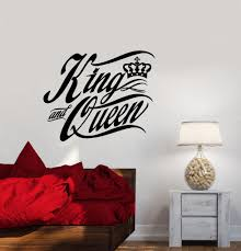 Vinyl Wall Decal Quote Words The King And Queen Crown Bedroom Decor St Wallstickers4you