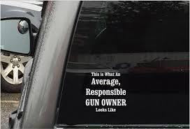 Average Gun Owner Decal Keller Fishing Supply Co