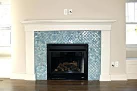 subway tile fireplace glass