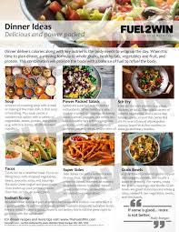 fuel2win sports nutrition project
