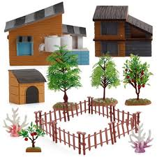 Super Deal 3621 Diy Styles Action Toy Figures Simulation Farm Accessories Crawling Insects Animals Hard Praying Fruit Tree Fence Collection Toy Cicig Co