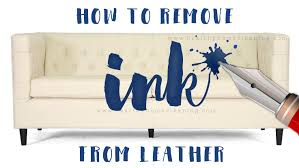 how to remove ink from leather no