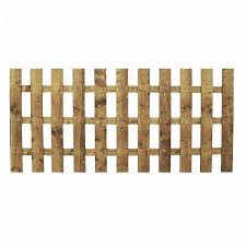 3ft X 6ft Square Top Picket Pressure Treated Fence Panel One Garden
