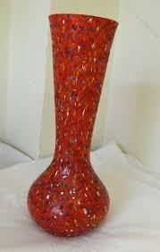 vintage murano spatter glass vase