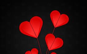 تحميل خلفيات قلوب حمراء 4k اوريغامي الإبداعية قلوب خلفية