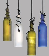 diy recycled wine bottle pendant lights