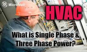 hvac single phase three phase