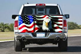 American Usa Flag Vinyl Decal Truck Tailgate Car Wrap 48 X 23 Auto Parts And Vehicles Car Truck Graphics Decals