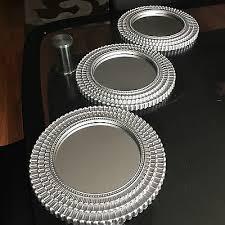 art deco round wall mirrors wall art