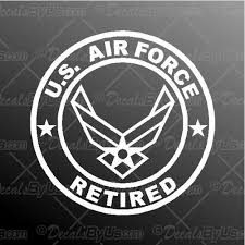 Decal Air Force Retired Car Truck Window Sticker