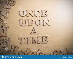 once upon a time motivational inspirational quotes stock photo