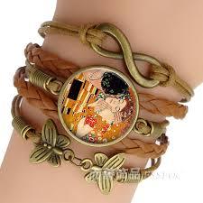 gustav klimt the kiss bracelet handmade