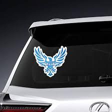 Tribal Blue Flame Eagle Tattoo Sticker