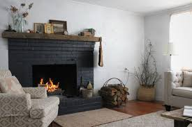 weekend upstate black brick fireplace