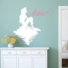 Mermaid Decals Little Mermaid Name Wall Decal Little Mermaid Etsy