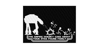 Star Wars At At Stick Figure Vinyl Car Decal Sticker Geeky Domain
