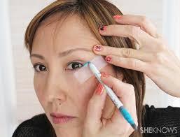 makeup tutorial teal cat eye eyeliner