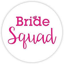 Amazon Com Bachelorette Stickers Bride Squad Choose Your Colors 502 P Office Products