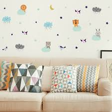 Isabelle Max Animals Up In Clouds Wall Decal Wayfair