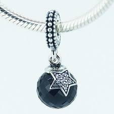 star pendant charm diy beads solid 925