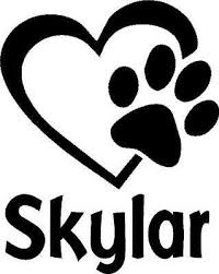 Paw Print In Heart Personalized Vinyl Decal Sticker Window Dog Pet Animal Name Ebay
