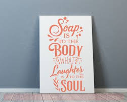 Soap Is To The Body Vinyl Lettering Decals Wall Sticker Bathroom Decor
