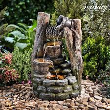 serenity cascading buckets wishing well