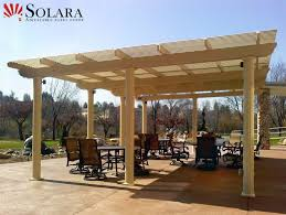 free standing louvered roof system