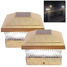 Buy Bronze Led Solar Powered Deck Cap Fence Lights From Unibos
