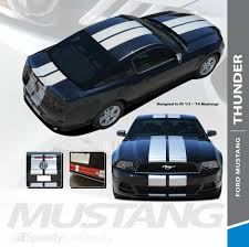 Thunder 2013 2014 Ford Mustang 10 Lemans Style Racing Stripes Hood Rally Striping Vinyl Graphics Kit Speedycardecals Fast Car Decals Auto Decals Auto Stripes Vehicle Specific Graphics