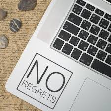 No Regrets Decal Quotes Motivation Inspiration Car Sticker Macbook Laptop