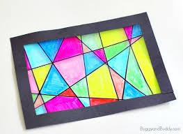 faux stained glass suncatcher craft for