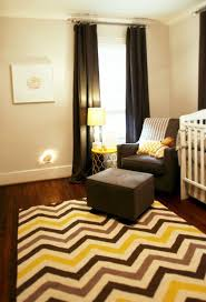 yellow and gray nursery modern