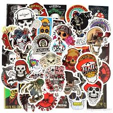 Punk Skull Vinyl Stickers Bomb Horror Doodle Car Decals Waterproof For Diy Laptop Skateboard Guitar Bicycle Motorbike Decoration Gifts Star Wall Decals Star Wall Stickers From Kg2007 4 08 Dhgate Com