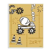 The Kids Room By Stupell 10 In X 15 In Go Slow Yellow Cement Truck Construction Zone By Denise Sullivan Wood Wall Art Brp 2354 Wd 10x15 The Home Depot