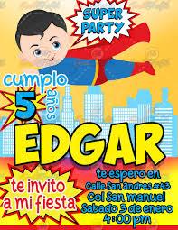 Invitacion Para Fiestas Infantiles Superman 80 00 En Mercado Libre